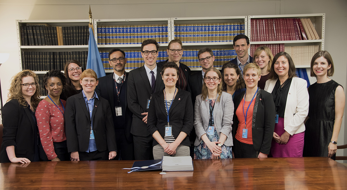 ICAN campaigners visit the Treaty on the Prohibition of Nuclear Weapons